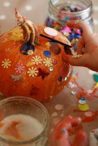 glitter pumpkins imagination tree